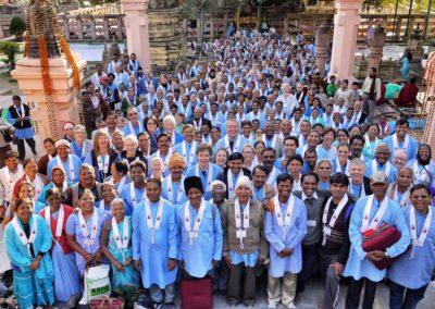 OBS er del av den internasjonale organisasjonen Triratna. Her fra et ordensstevne i India.