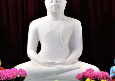 Buddha-statuen i Oslo Buddhist Vihara