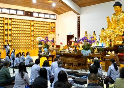 Åndelig leder for Det vietnamesiske buddhistsamfunn Thich Tri Minh taler i et vietnamesisk tempel i Australia
