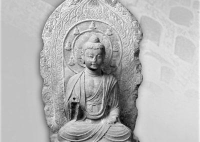 Gammel statue av Buddha ved Fo Guang Shan Buddha Museum i Kaohsiung, Taiwan