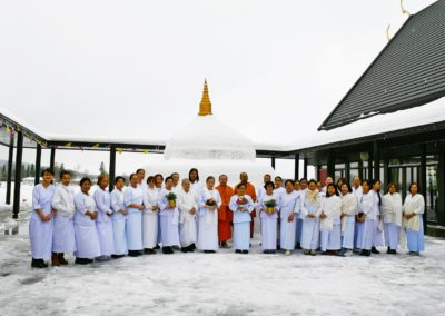 Snøstupa i Wat Thai Norway