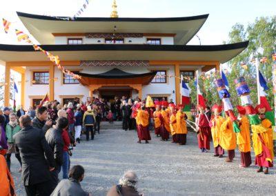 Innvielsen av nytt tempel på Karma Tashi Ling buddhistsenter juni 2015