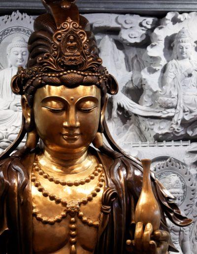 Detalj fra alteret i Lotus tempelet
