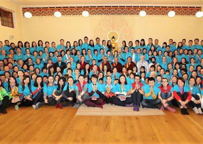 Elever av Khepo Sodargye under kurs på Karma Tashi Ling buddhistsenter