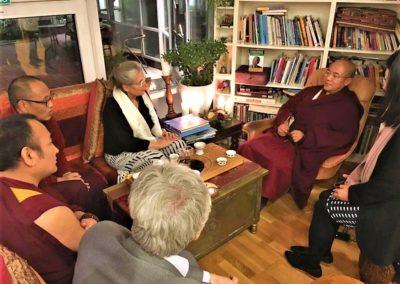 Khenpo Sodargye i møte med Pamela Hiley på Norsk taiji senter