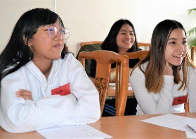 Elever på thai språkundervisning i Wat Thai Norway