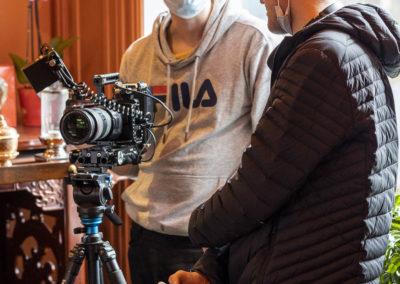 Det ble også laget film på kurset
