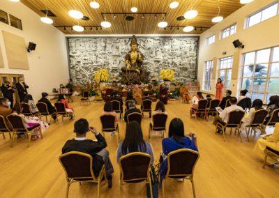 Fra konfirmasjonsseremonien i Lotus tempelet
